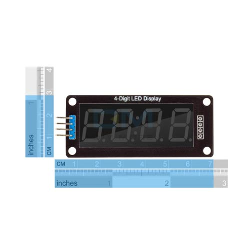 LED display 4x 7seg modul TM1637 03