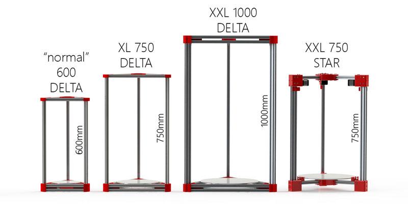delta 3D tiskalniki