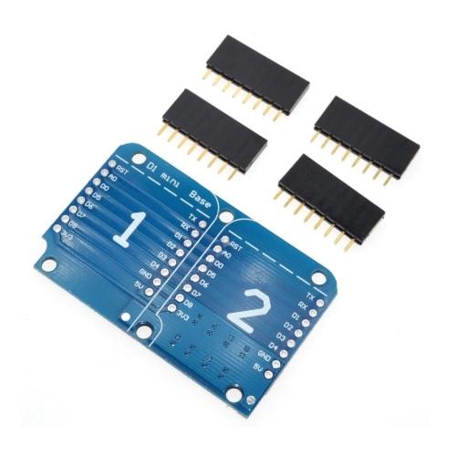 ESP32 D1 mini razširitev dvojna ploščica 01