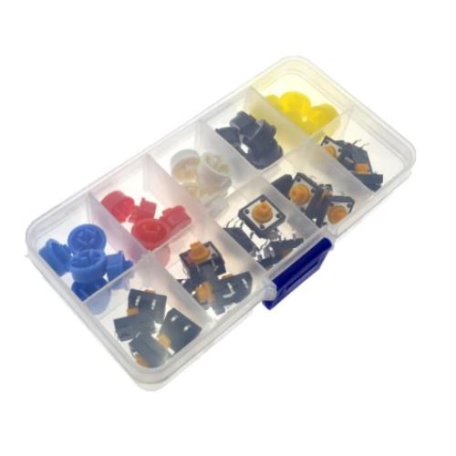 Tipke z barvnimi gumbi za protoboard SET V PVC ŠKATLI