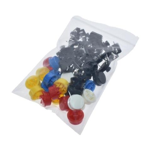 Tipke z barvnimi gumbi za protoboard SET