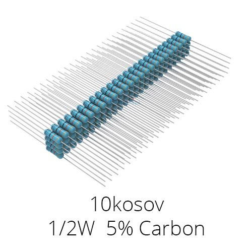 Upori 0.5W razni 220R, 470R, 1k, 4k7,10k 100 kosov
