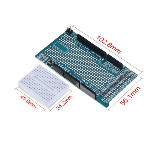 Arduino MEGA protoboard shield 02