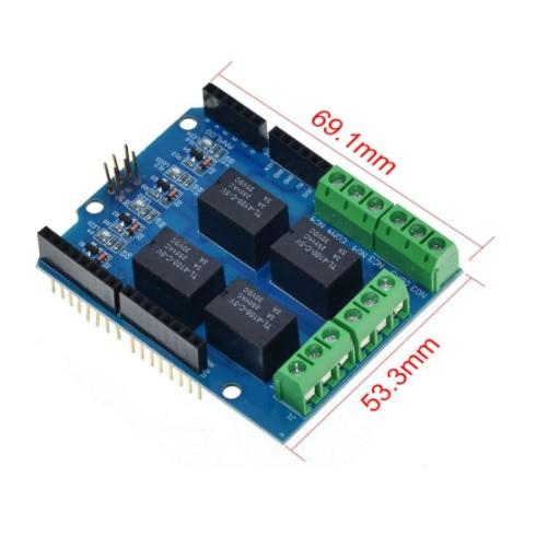 Arduino UNO relejni shield 02