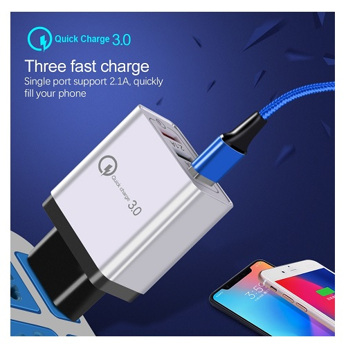 USB hitri polnilec 3x USB 2.1A bel 03