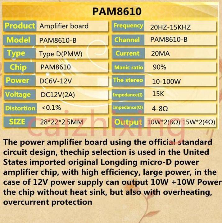 Modul PAM8610 zvočni ojačevalec info
