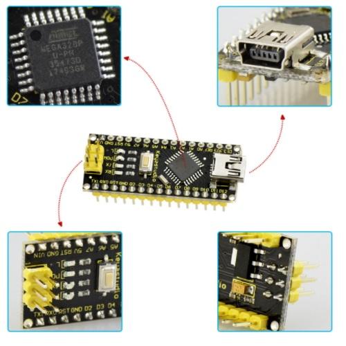 Arduino NANO ATmega328 miniUSB Keyestudio