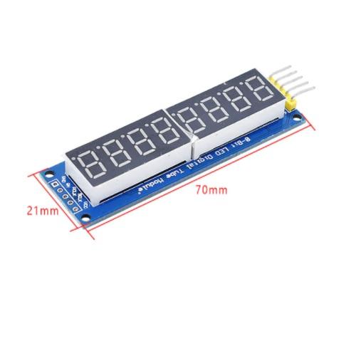 Modul 8x 7seg LED display 74HC595