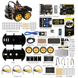 Robotsko vozilo 4WD BT v2.0 KIT Keyestudio