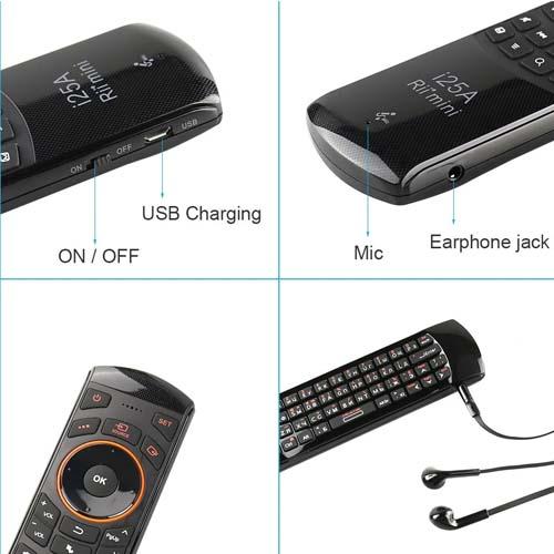 Multimedijski upravljalnik Rii i25A 2.4G Mini Wireless 2
