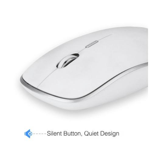 Tipkovnica in miška SeenDa 2.4G Wireless Silent bela